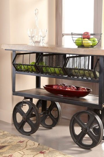 Trolley Basket Cart - Natural/Black by Furniture Deals For Every Style on @HauteLook