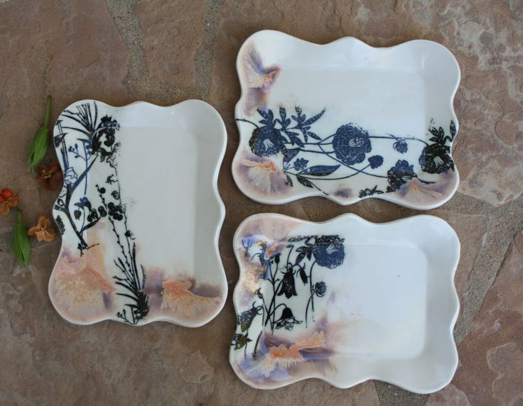 Ceramic Plate set of 3 handmade Dessert Plates Tapas Sushi plate dinnerware gift for foodies unique wedding gifts housewarming gift for her by ManuelaMarinoCeramic on Etsy https://www.etsy.com/listing/238458092/ceramic-plate-set-of-3-handmade-dessert