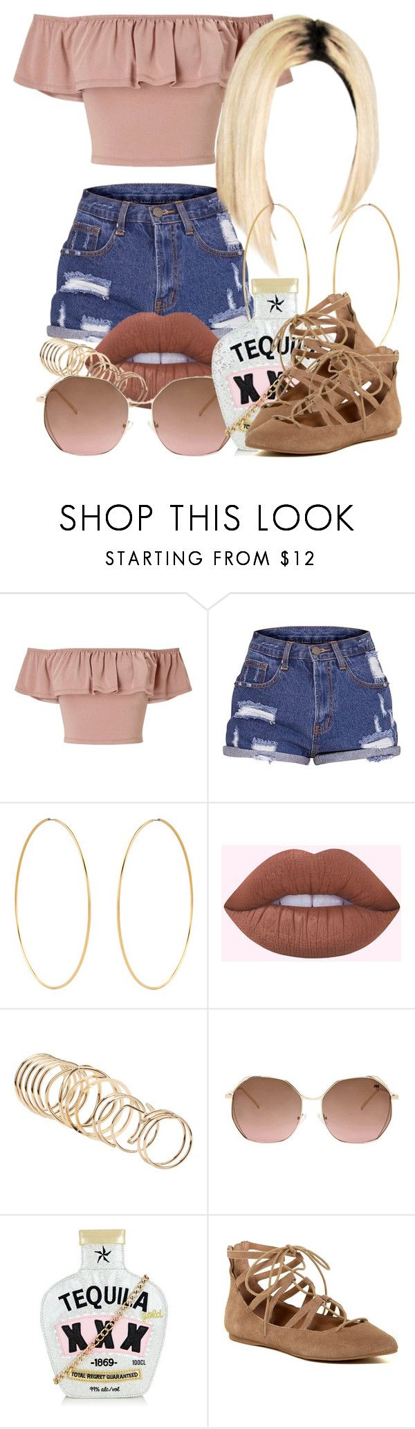 """""""4 10 17"""" by miizz-starburst ❤ liked on Polyvore featuring Miss Selfridge, Accessorize, Lime Crime, ALDO, Forever 21 and Steve Madden"""