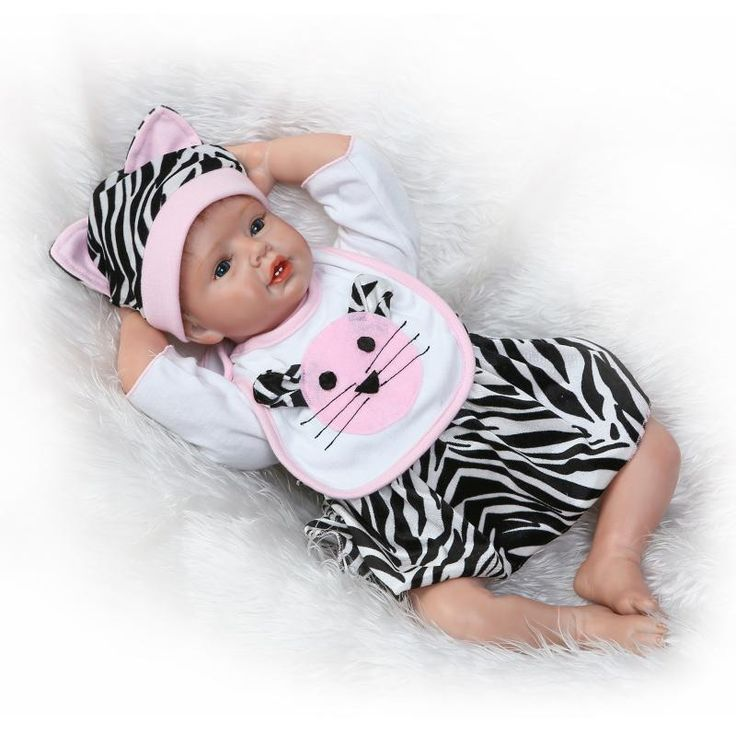 ==> [Free Shipping] Buy Best 55cm Doll Reborn Silicone reborn baby dolls Realistic Vinyl Girl Baby Doll Gifts Kid's Toys Baby Accompany Enlightenment Toys Online with LOWEST Price | 32810551797