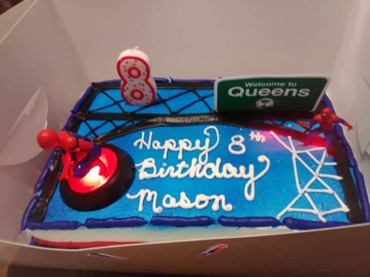Sensational Walmart Spider Man Cake With Images Spiderman Cake Cakes For Funny Birthday Cards Online Elaedamsfinfo
