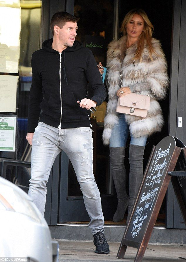 Out and about: There's no place like home for Steven Gerrard and WAG wife Alex, who were s...