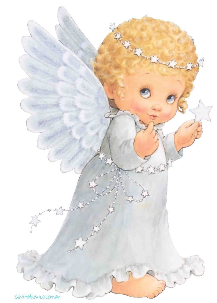 Надписями, ангелочки младенцы рисунок