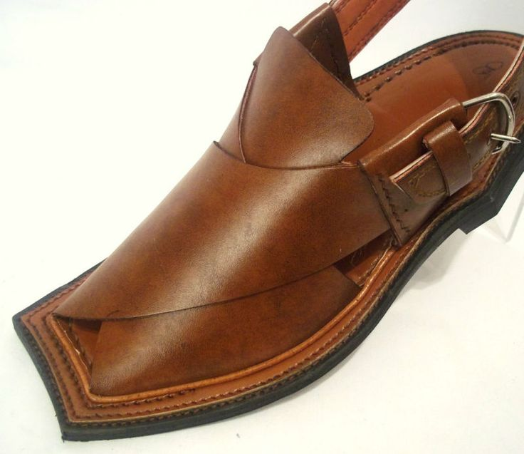 Asian Mens 100 Genuine Leather Peshawari Sandal Shoes | eBay
