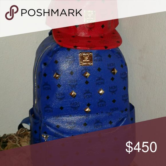 MCM HAT AND BOOKBAG hat red bookbag blue and both free MCM Bags Backpacks