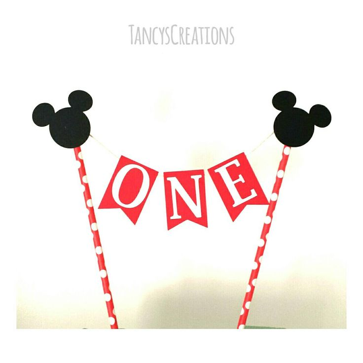 One Mickey Mouse inspired cake topper for a  first birthday. Cake banner! Party! Cake Topper! by TancysCreations on Etsy https://www.etsy.com/listing/233414186/one-mickey-mouse-inspired-cake-topper