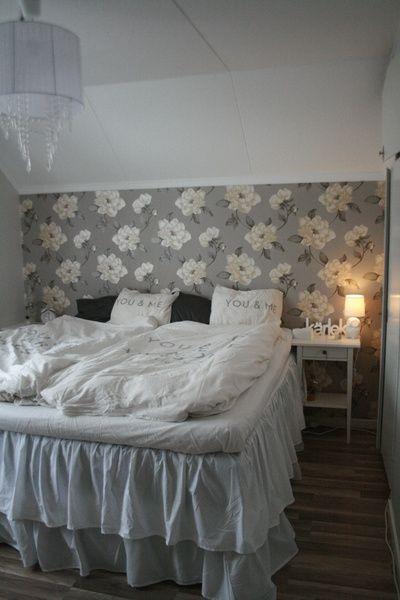 sovrum,vitt,sängkappa,lantligt,shabbychic
