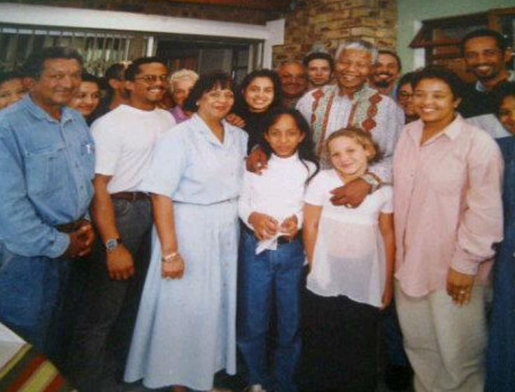 Madiba with the Grammer family at Elsies River, Cape Town, 1996. Submitted by Shelley-Ann Grammer