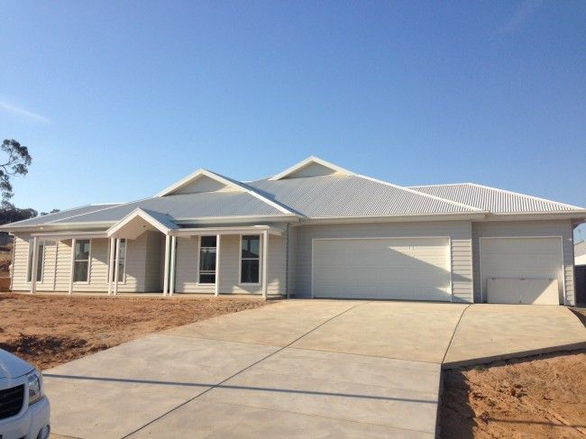 House update: the fix out is almost done - weatherboard, grey