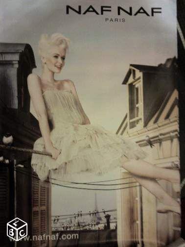 Affiche publicitaire naf naf paris robe 120x175 #chrisdeparis 10€