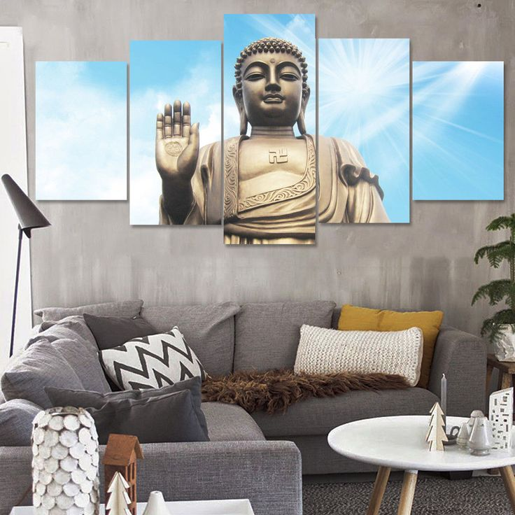 Statue Of Buddha Zen Buddhism 5pcs Painting Printed  Canvas Wall Art Home Decor #Unbranded #ArtDeco