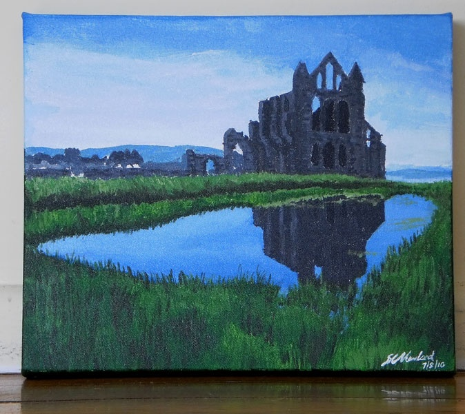 Whitby abbey in England