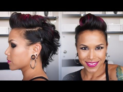 My latest hair tutorial: Victory Roll Fauxhawk