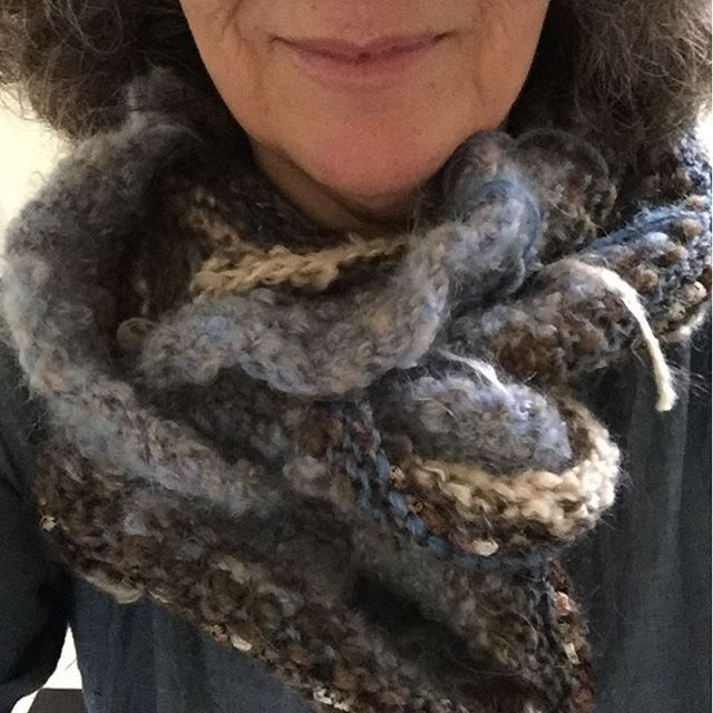 I love how the layers of the #remarkablescarf twist and turn.