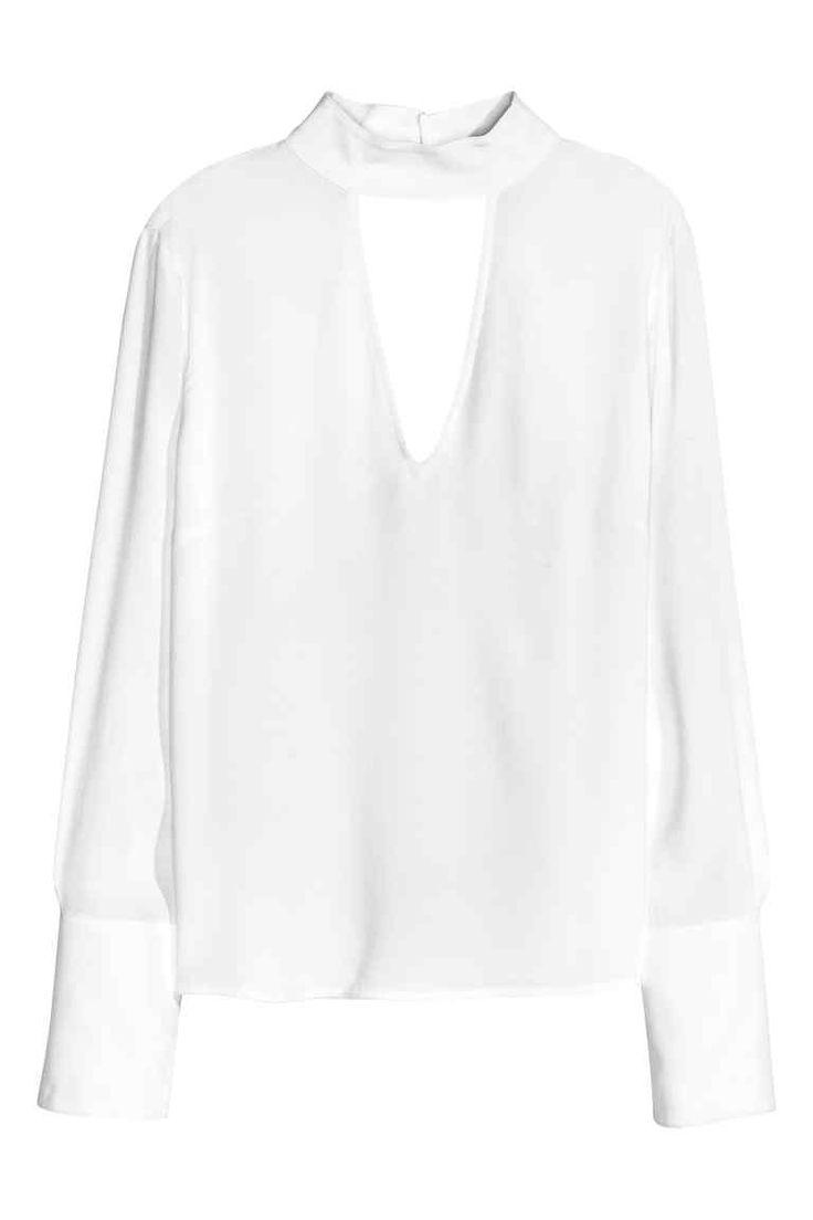 Camicetta in tessuto crêpe | H&M