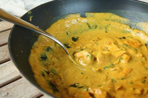 curry thai de crevettes au lait de coco
