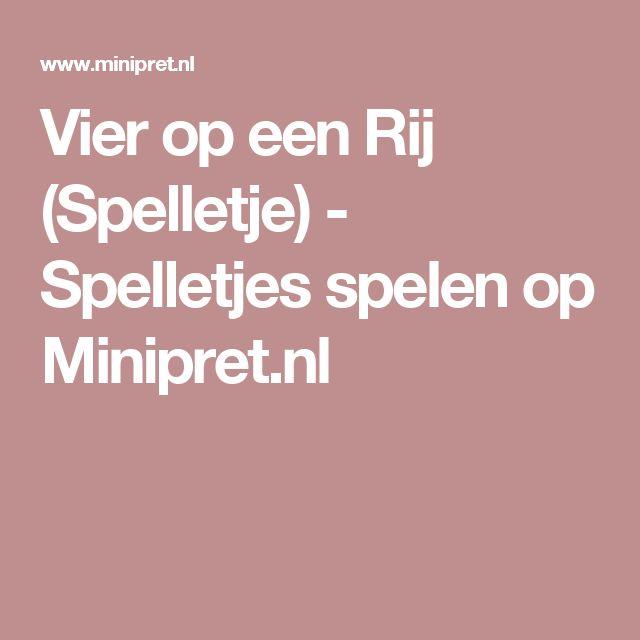 Vier op een Rij (Spelletje) - Spelletjes spelen op Minipret.nl