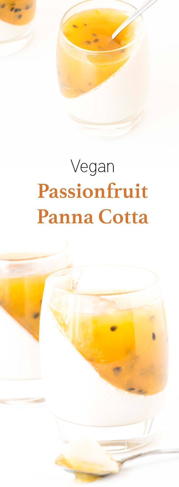 Light and refreshing Vegan Passionfruit Panna Cotta Recipe. Insanely easy to make and a definite favourite with everyone.