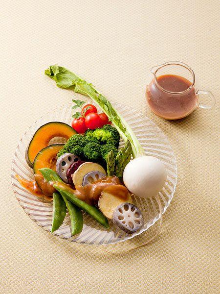 温野菜のサラダ しょうゆ麹のフレンチドレッシング