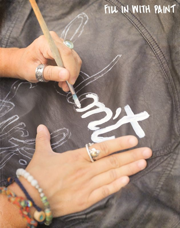 DIY: Paint your Leather Jacket