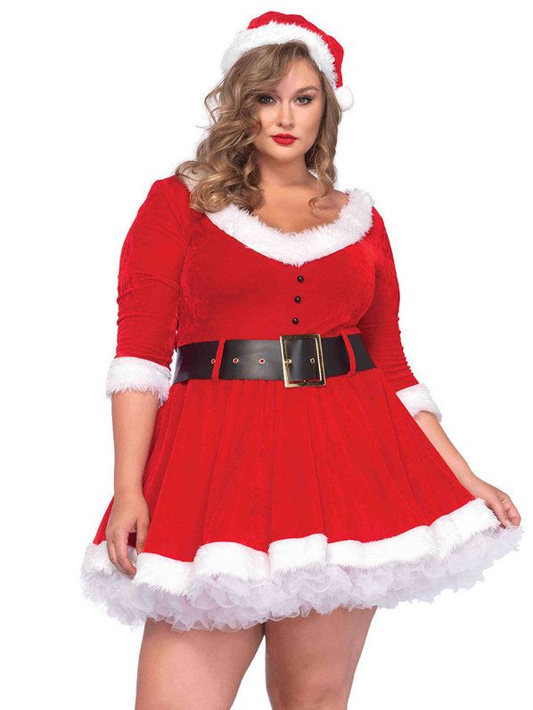 Check out Sexy Curvy Miss Santa Costume | Christmas Costumes and Accessories from Costume SuperCenter for Holiday Parties and Christmas from Costume Super Center