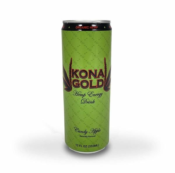 Kona Gold Candy Apple Hemp Energy Drink 12 0 Fluid Ounces 12 Pack Zero Calories Zero Sugar Natural Flavors Orga Energy Drinks Candy Apples Natural Flavors