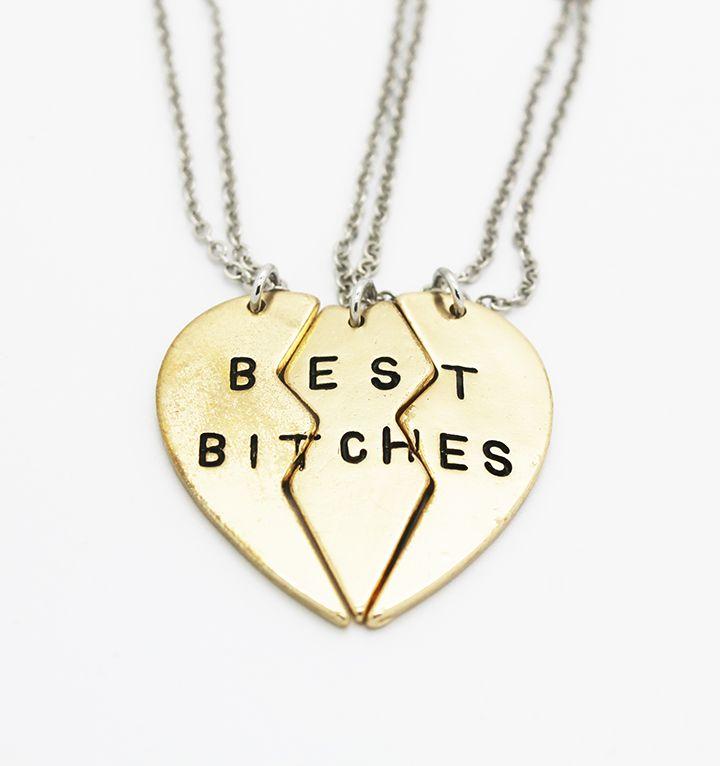 Best Friends met z'n drieën? Verdeel deze 3-delige BFF ketting en jullie zijn nooit meer van elkaar gescheiden! Best Friends Forever!