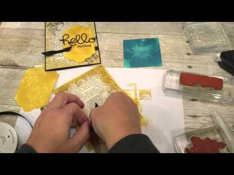 cardmaking video tutorial: Magic Water Stamping ... and a great card using it ...