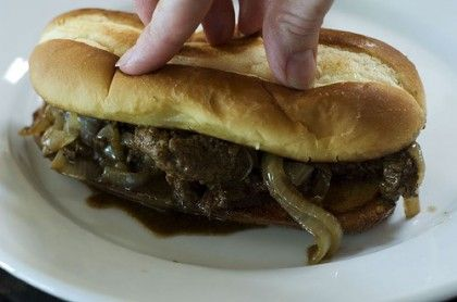 The Pioneer Woman's 'Marlboro Man Sandwich'. This is her husband's favorite, made from cube steaks and delicious!!