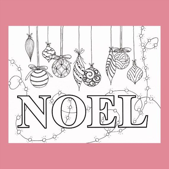 Christmas Coloring Page Noel Coloring Page Christmas Balls Coloring Pages Christmas Colors Christmas Coloring Pages