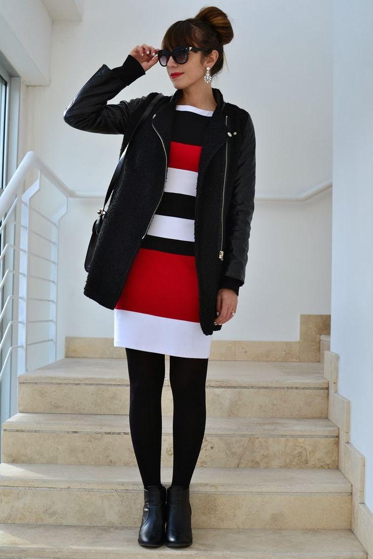 Nameless fashion blog: Chic color block #oasap #dress #colorblock #chic #bun #fashionblogger