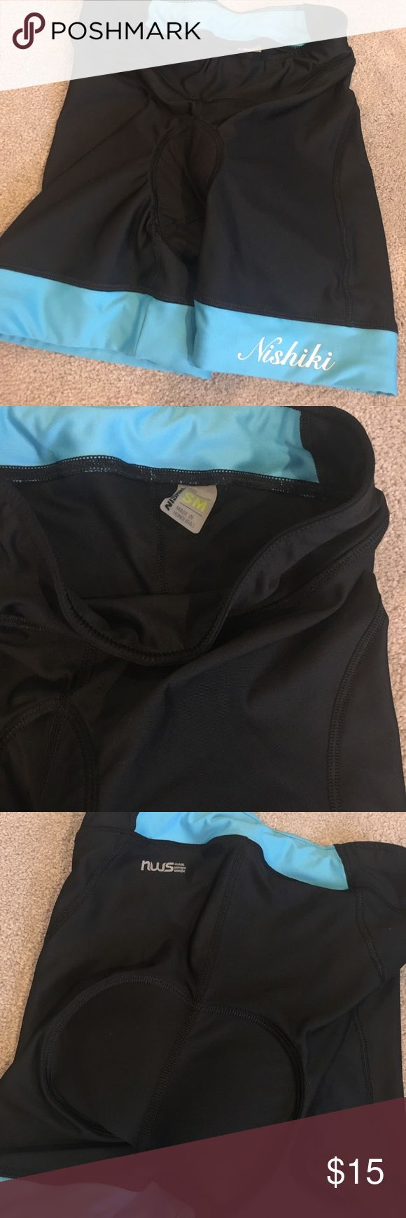 Nishiki bike spin cycle padded shorts small Worn only a couple times. Nishiki Shorts