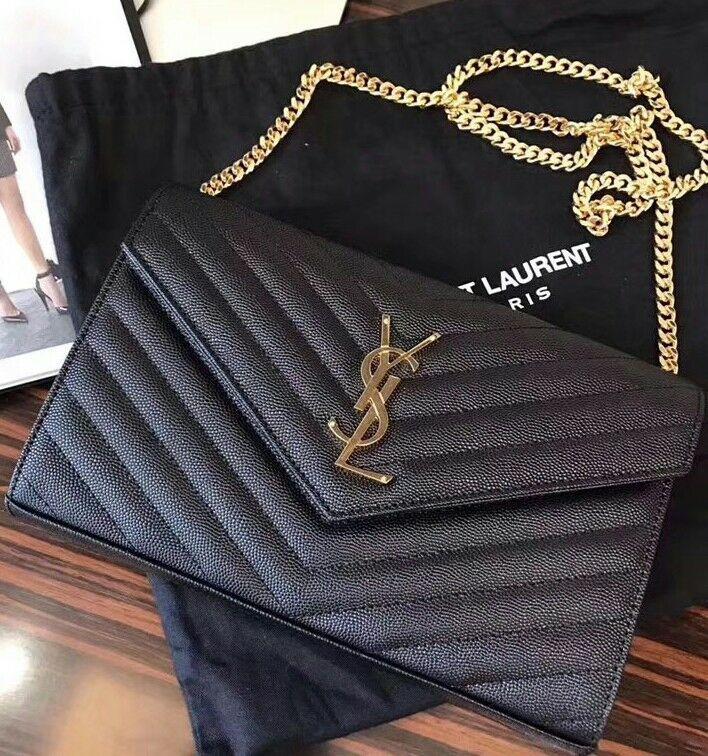 2366d747ad4 Details about YSL Saint Laurent Small Kate Monogram Shoulder Bag ...