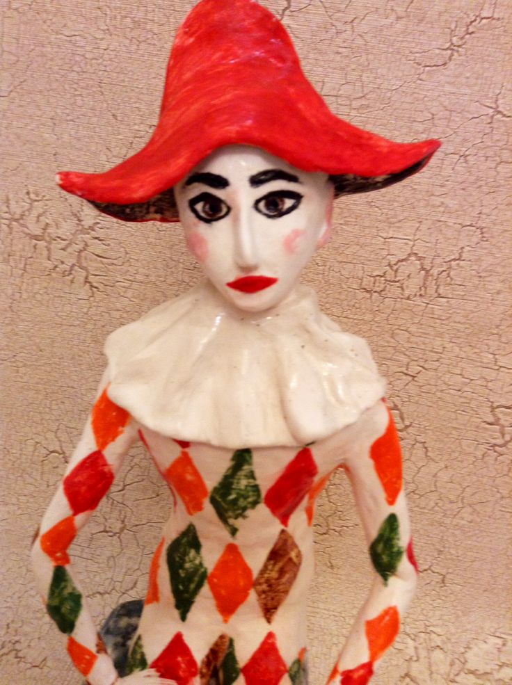 Arlequine by Irina Pirogova #ceramics #IrinaPirogova #prostyeludi