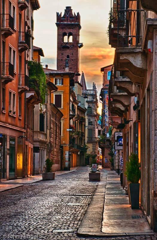Beautiful Streets of Verona.
