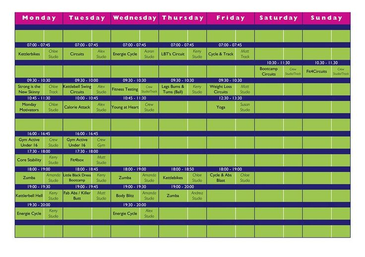 September timetable Remember to Book onto your class :) #longeatonF4L