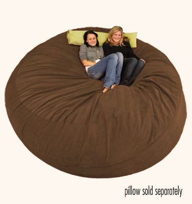 This looks amazing! ComfySacks -  8 ft Sack Micro Suede Chocolate -- http://www.comfysacks.com