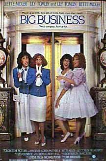 Big Business (1988) -- Twins switched at birth and later reunited at a hotel in New York city with lots of comedy. Lily Tomlin and Bette Midler are fabulous!