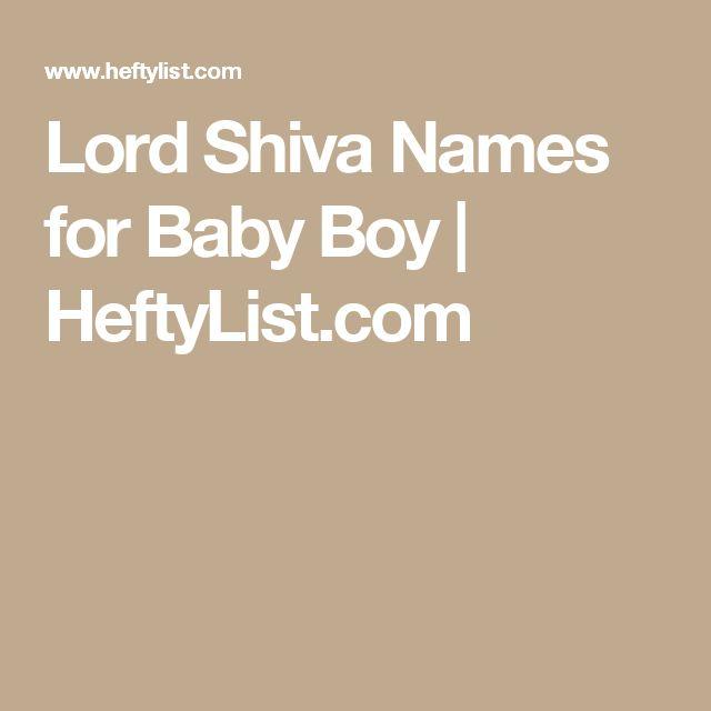 Lord Shiva Names for Baby Boy | HeftyList.com