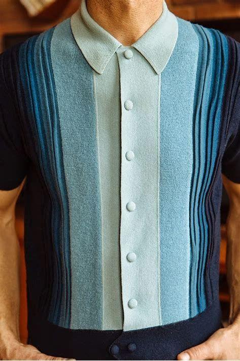 Mens Italian Knit Shirts
