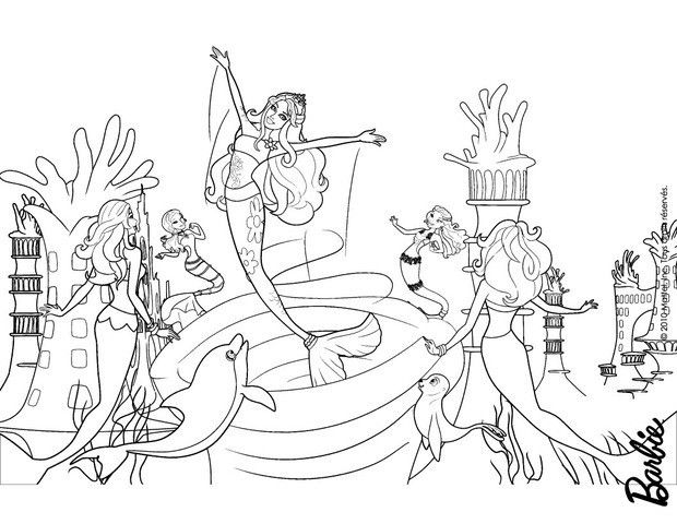 25 best ideas about barbie coloring pages on pinterest - Barbie sirene coloriage ...