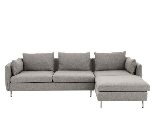 Vento 3 Seater Right Hand Facing Chaise End Corner Sofa Manhattan Grey 1000 Corner Sofa Grey L Shaped Sofas Sofa