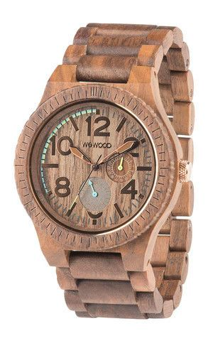 AS SEEN IN GQ MAGAZINE! • 100% Natural Wood • Hypo-allergenic • Completely free of toxic chemicals • Premium Multi-function Miyota movement • Hardened, scratch-proof mineral glass • Adjustable to fit