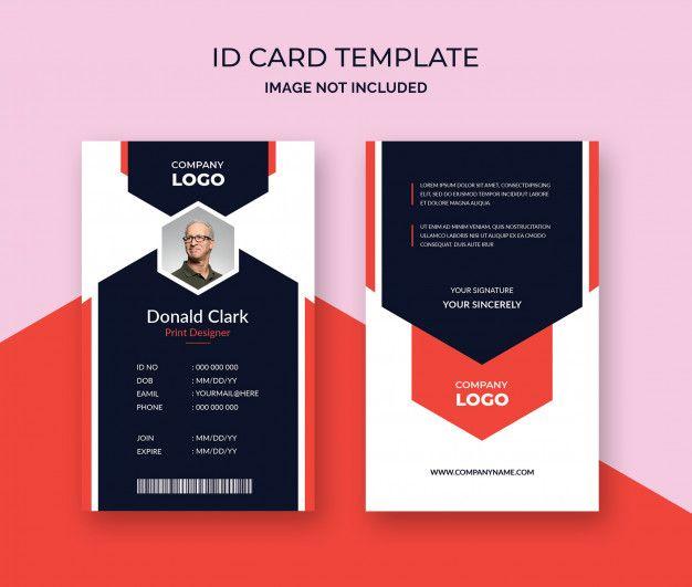 Creative Id Card Template Premium Psd Premium Psd Freepik Psd Abstract Card Template Geometric Id Card Template Card Template Word Template Design