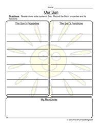our sun worksheet earth science science worksheets solar system worksheets have fun teaching. Black Bedroom Furniture Sets. Home Design Ideas