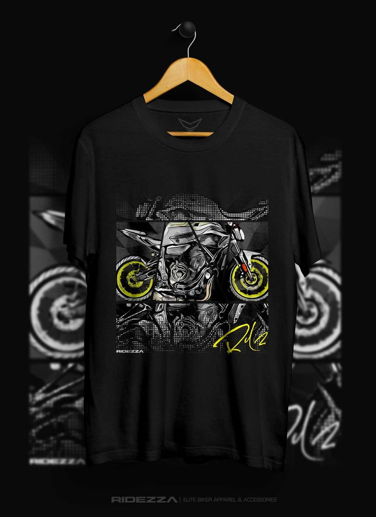 Exclusive Yamaha FZ-07 Triblend T-Shirt. Illustrated and designed by a motorcyclist.