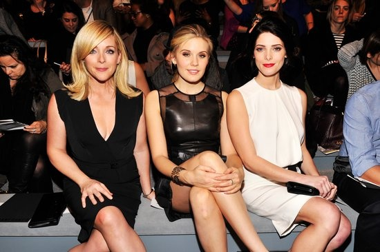 Jane Krakowski, Maggie Grace, and Ashley Green shared the front row at Kaufman Franco on Monday. #NYFW