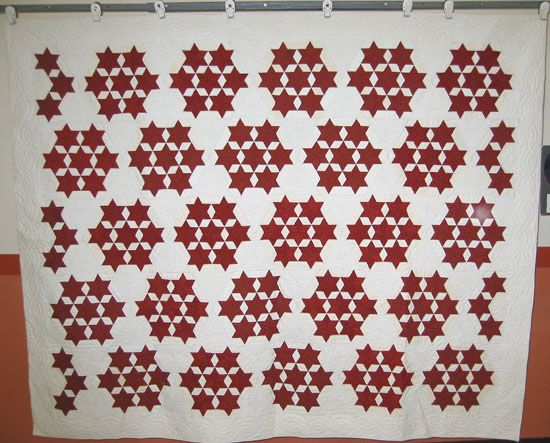 Seven Sisters Stars Quilt Pattern Red And White I Love