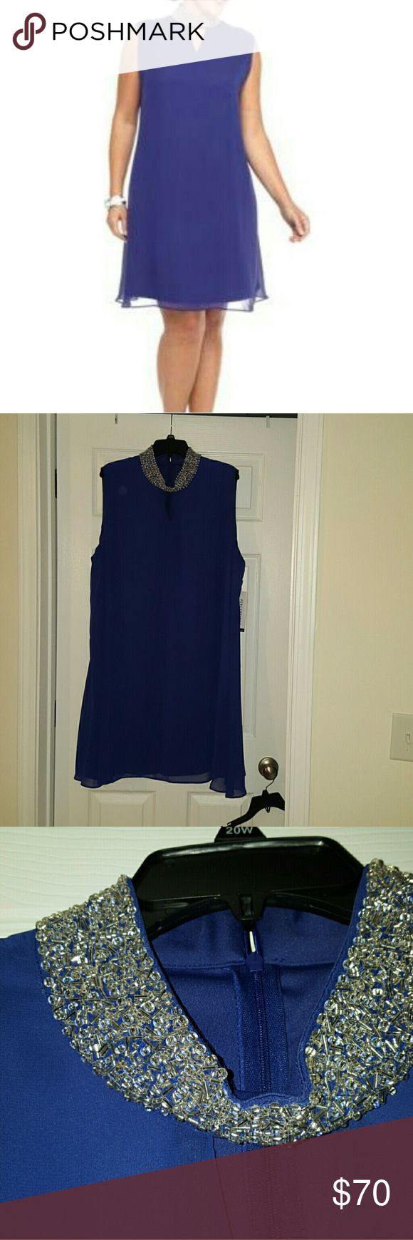 NWT! PERCEPTIONS NEW YORK PLUS SIZE 22W DRESS Color : Cobalt                                 ***** PRICE IS FIRM! *****                              ***** I DON'T TRADE ***** PERCEPTIONS NEW YORK  Dresses