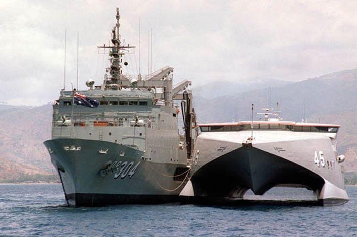 HMAS Jervis Bay..........refueling